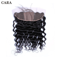 Pre Plucked Silk Base Lace Frontal Closure Brazilian Virgin Hair Loose Wave 13x4 Free Part Bleached Knots With Baby Hair CARA