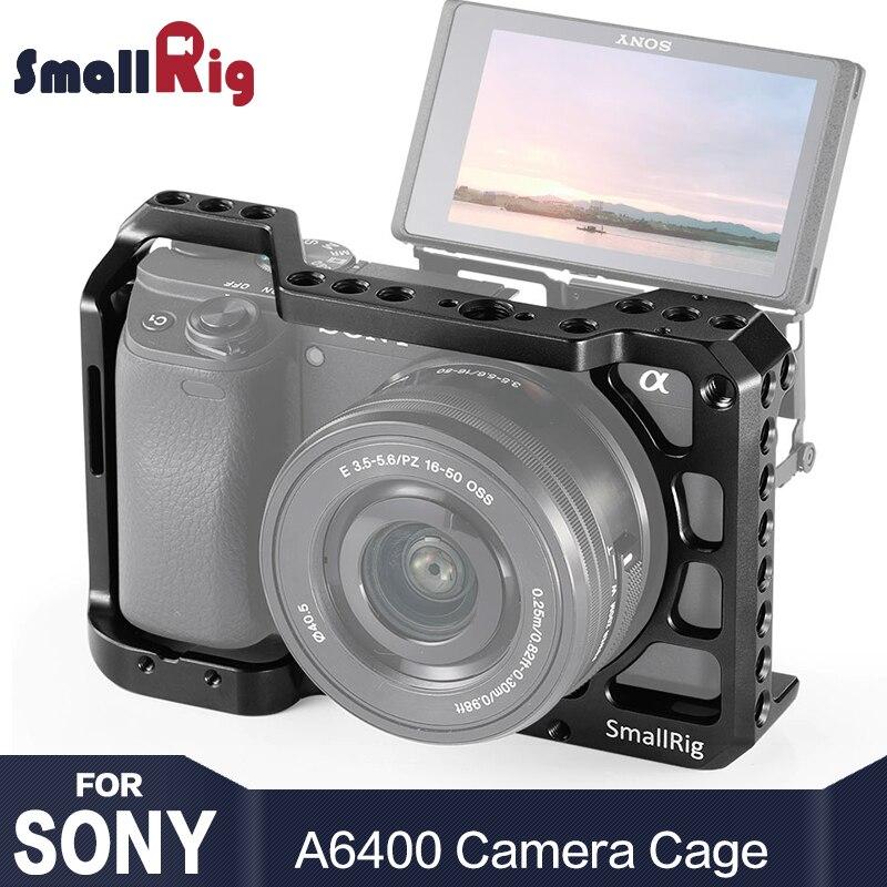 Cage de caméra SmallRig A6400 pour appareil photo Sony Alpha A6400 avec 1/4 3/8 trous de filetage pour Vlog bricolage Option 2310
