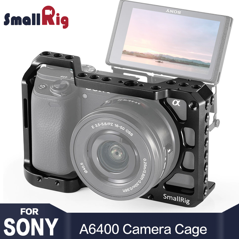smallrig-a6400-camera-cage-for-sony-alpha-a6400-camera-feature-with-1-4-3-8-thread-holes-for-vlog-diy-option-2310