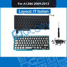 New A1286 Replacement Keyboard For Macbook Pro 15.4″ IT Italian Keyboard with Backlight Screws Tool 2009-2012