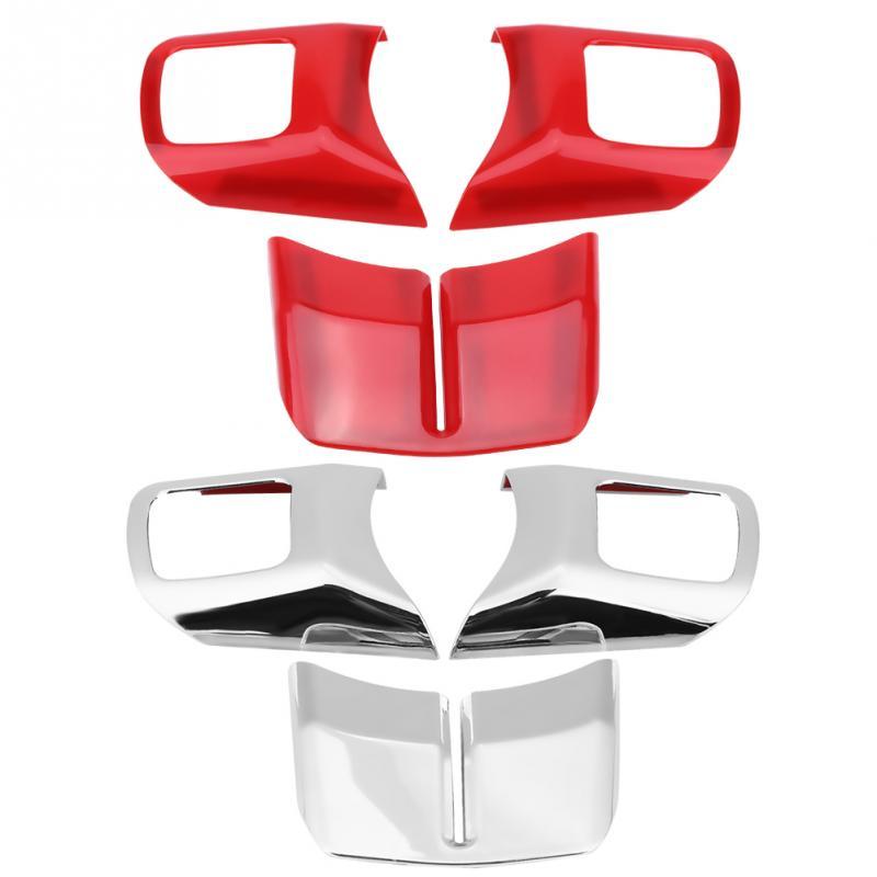 3Pcs Car Interior Decoration Steering Wheel Cover Trim Kit for Jeep Wrangler 2011-2017