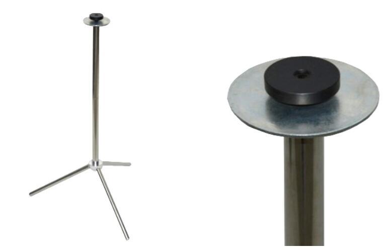 Base de Table en acier inoxydable-CW avec connecteur tours de Magie accessoires de scène Gimmick Prop magiciens utilisés pour la Magie de Table - 3