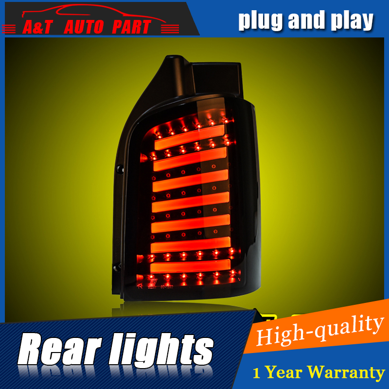 Car Styling LED Tail Lamp for VW Multivan T5 Tail Lights For Multivan T5 Rear Light DRL+Turn Signal+Brake+Reverse LED light for vw volkswagen polo mk5 6r hatchback 2010 2015 car rear lights covers led drl turn signals brake reverse tail decoration