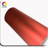 TSAUTOP Премиум металлик 1,52 м ширина без пузырьков воздуха матовый хром виниловая пленка матовая пятно красного оклеивание Фольга