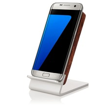 Moveski Wood Induction Wireless Charger pop sock Wireless Charging Pad Holder Inductive For All QI smartphones