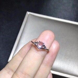 Image 4 - 자연 문스톤 반지, 푸른 광택, 925 실버 간단하고 절묘한, 작고 귀여운