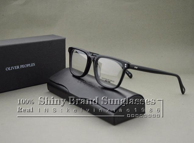 Hot 2016 oliver peoples ndg-1-p moda miopía óptica marcos de anteojos mujeres y hombres de la vendimia gafas de marco con la caja original