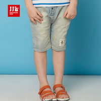 Boys Cropped Pants Kids Shorts Summer Boys Jeans Harem Pants Style Casual Adjustable Waist Size 4