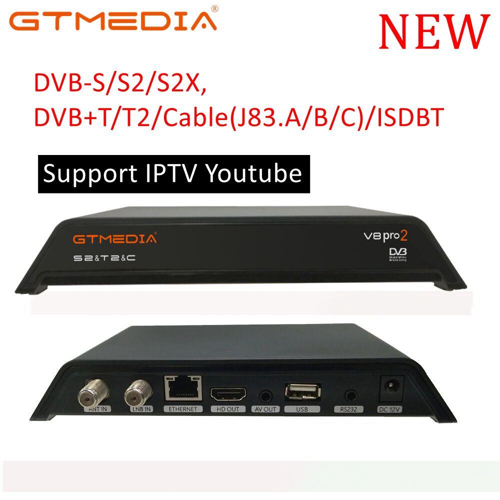 Récepteur de Signal Dvb-t2 de TV entièrement pour DVB-T numérique terrestre DVB T2/H.264 DVB T2 minuterie prend en charge pour Dolby PVR V8 Pro 2