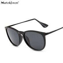 [Marte&Joven] Brand Designer Classic Polarized Oval Driving Eyewears Women Men Anti-Glare Mirror Coating Traveling Sun Glasses