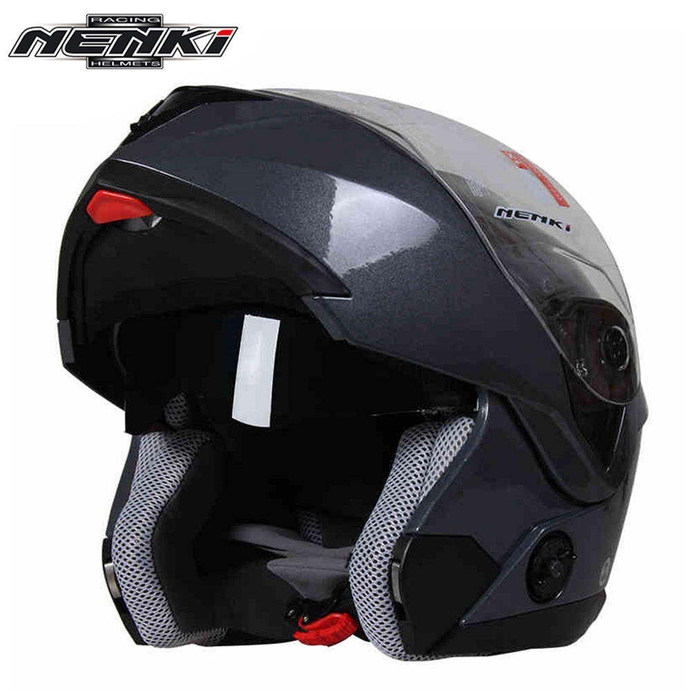 NENKI Motorcycle Helmet Women Full Face Helmet Street Bike Motor Motorbike Racing Modular Flip Up Dual Visor Sun Shield Lens 835 simple style vintage full face helmet custom made motorcycle helmet retro motor helmet