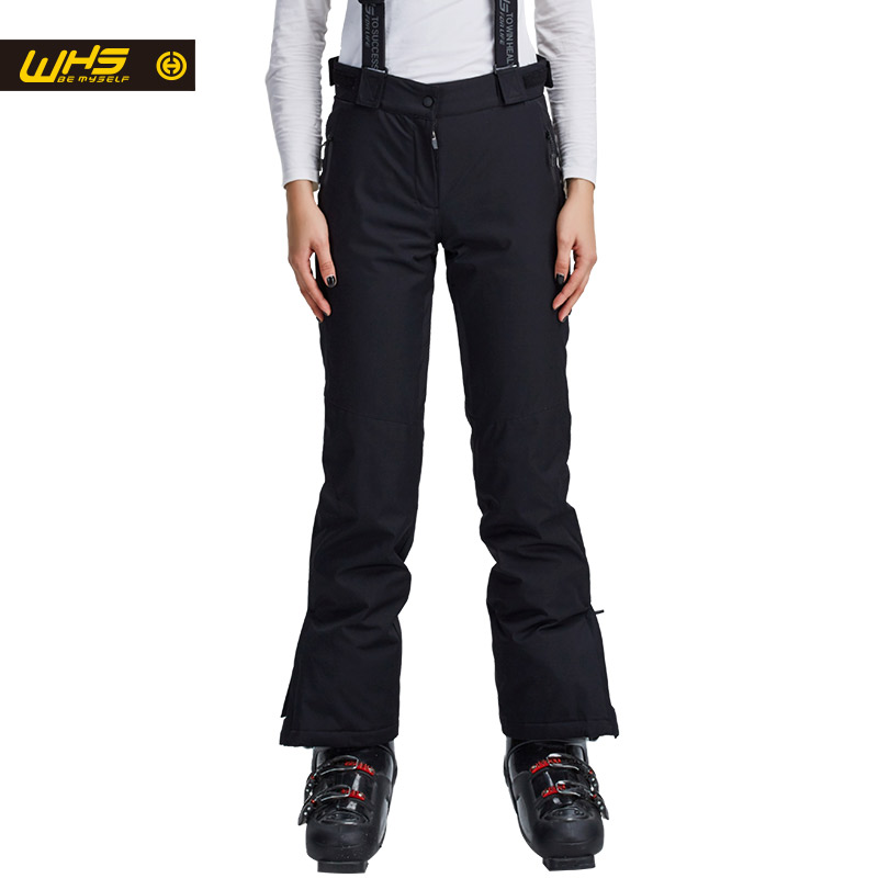 WHS new Women skiing pants brands Outdoor Warm Snowboard trouser female waterproof snow trousers ladies breathable sport pant