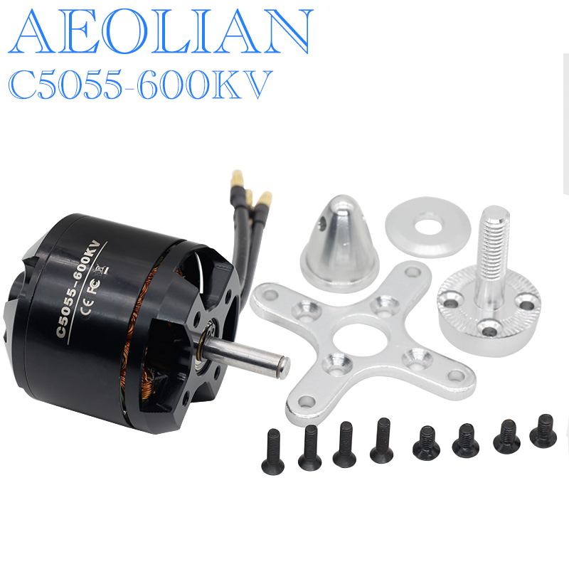 Aeolian <font><b>5055</b></font> kv600 with 6mm shaft Outrunner Brushless Motor for RC Airplane Fixed-wing image