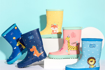 Children Cartoon Animal Waterproof Rainboots