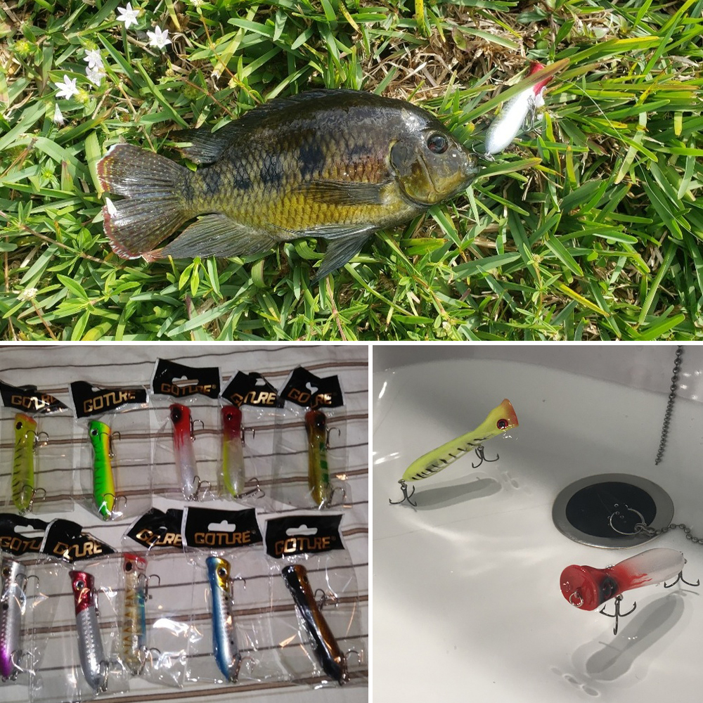 Goture 10 дана Popper Fishing Lure Wobblers Crankbaits Isca - Балық аулау - фото 2