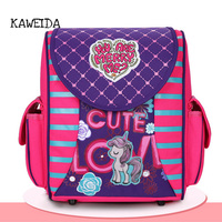 Cute kindergarten kids Orthopedic Schoolbag My little Pony School Bags for Toddler Girls Boys Cool Racing Car School Backpack