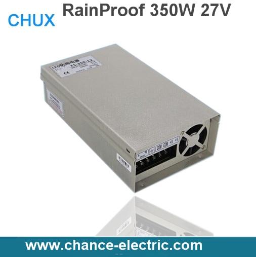 AC 110V 220V to DC 27V 350W Voltage Transformer Switch power supplies for Led Strip Rainproof(FY350W-27V)