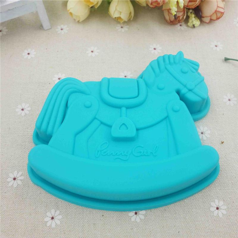 Silicone Cupcake Cake Mold Horse Shape Chocolate Pastry Mould Sugar Paste Fondant Sugar Craft Tool Baking Decor Accessory D847