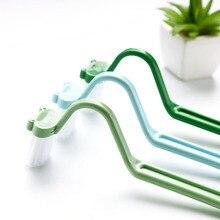 Горячая 1 шт. лягушка V Тип Портативная пластиковая щетка для чистки туалета щетка для чистки ванной комнаты V-type изогнутая щетка для чистки