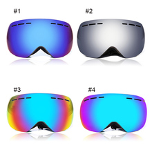 WOLFBIKE Winter Outdoor Sports Snowboard Protective Glasses Anti-fog Snow Ski Goggles Men Women UV400 Colorful Eyewear 4 Color