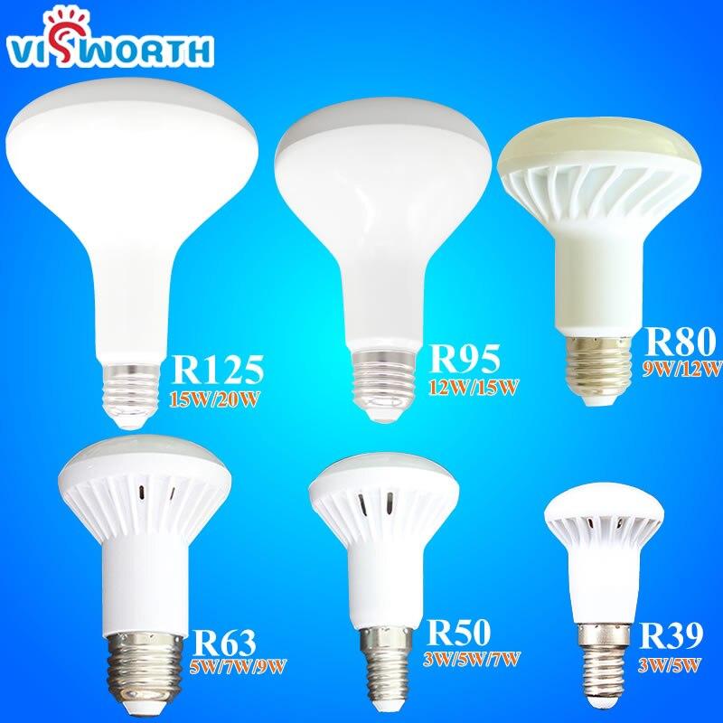 R39 R50 R63 R80 R95 R125 LED Lamp E14 E27 Base LED Light 3W 5W 7W 9W 12W 15W 20W Led Umbrella Bulb Warm Cold White LED Spotlight mitsubishi 100% mds r v1 80 mds r v1 80