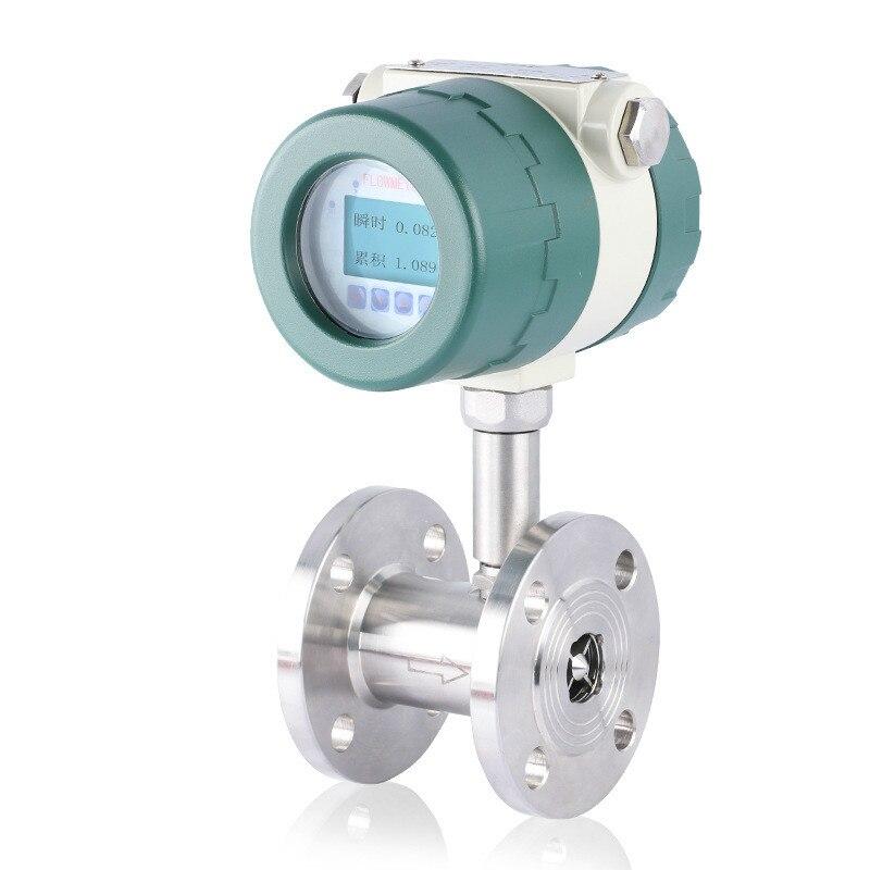 Интеллектуальные Турбинный Расходомер Датчик Жидкость Турбины датчик DN20 импульса выходной поток