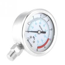 1pcs Hydraulic Pressure Gauge Pressure Gauge 1/4 NPT 60mm Dial Air Hydraulic Water Pressure Gauge Meter Pressure Measuring Tool