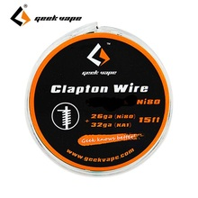5m Original GeekVape Clapton Wire DIY KA1 Tape Wire 26GA/Ni80/ 28GA/32GA DIY Coils for E-cigarette Tape Wire Well Wrapped