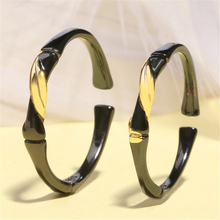 925 sterling sliver New arrival promotion price bamboo lovers ring black gold love adjustable couple rings accesorios GMNR200