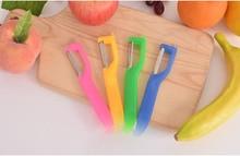 1PC New Fruit Paring Knife Kitchen Multi-function Planer Household Apple Scraping Potato Peeler Random Color OK 0783