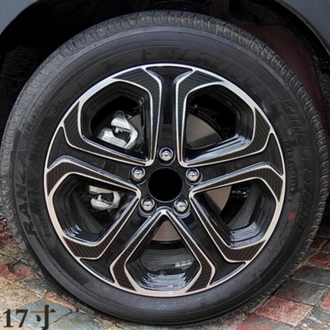 Tonlinker 1 шт. на 4 колеса DIY автомобиль стиль 17 дюймов Углеродные, для колес волокна Защитный чехол наклейки для Honda vezel HRV - Название цвета: B models