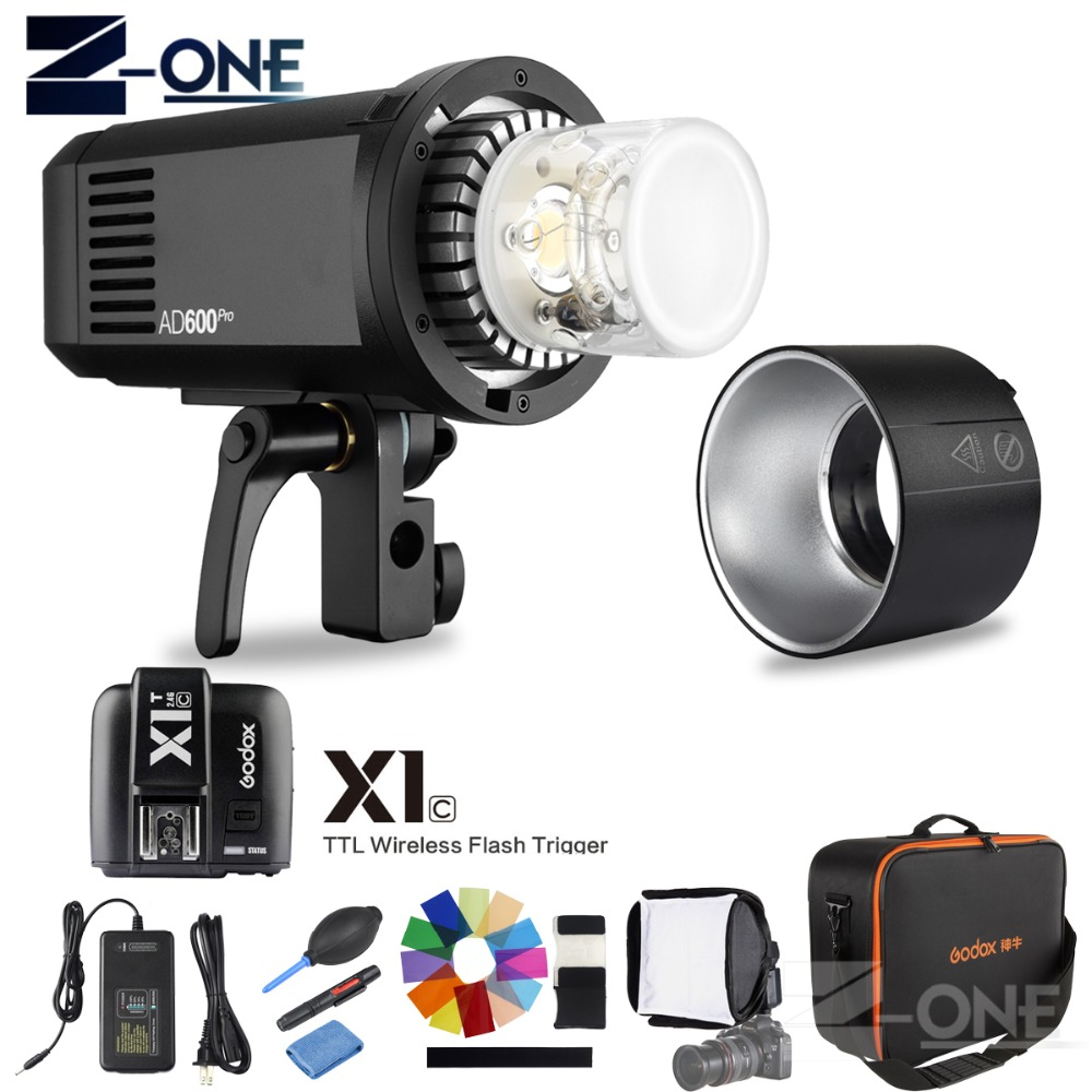 Newest <font><b>Godox</b></font> AD600Pro HSS 1/8000s TTL 2.4G Wireless Outdoor Flash Photography lights <font><b>AD600</b></font> <font><b>Pro</b></font> + X1T-C Trigger for Canon+GIFT image