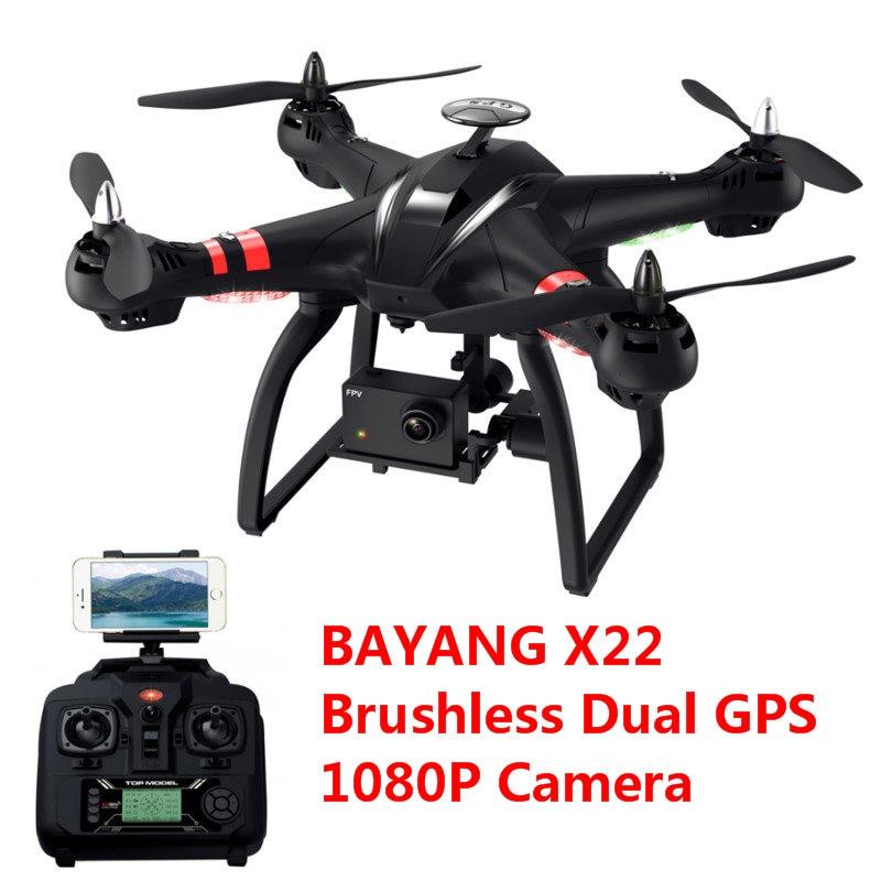 BAYANGTOYS X22 Brushless Dual GPS Drone Mode2 WIFI FPV with 3-Axis Gimbal Altitude Hold 1080P HD Camera RC Quadcopter RTF VS X21 original yuneec typhoon h 480 pro drone with camera hd 4k rc quadcopter rtf 3 axis 360 gimbal vs dji inspire 2 mavicpro in stock
