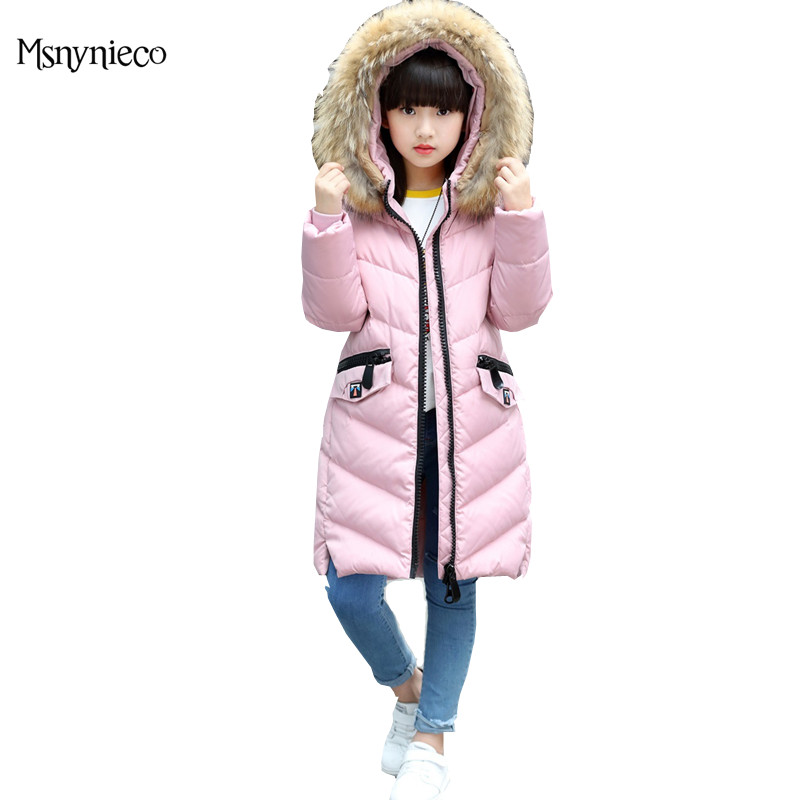 Winter Coats for Baby Girls Outwear 2017 Brand Fashion Kids Fur Collar Children Down Jacket Thick Warm Outdoor Casual Windproof 2017 new baby girls boys winter coats jacket children down outerwear warm thick outdoor kids fur collar snow proof coat parkas