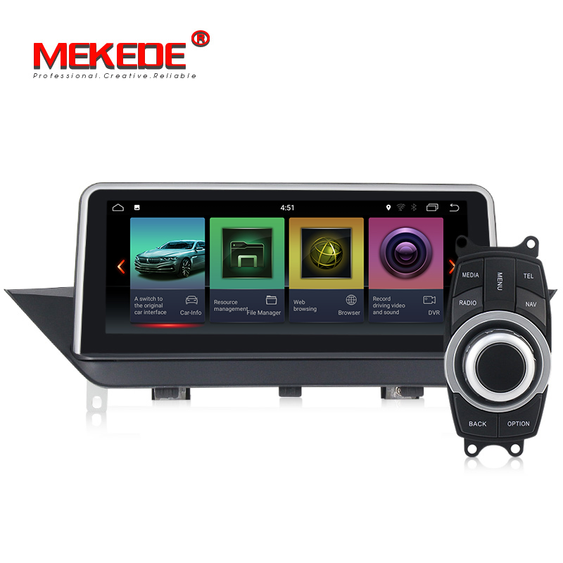 Android 7.1 Car DVD Player multimídia para BMW X1 E84 2009-2015 Sem tela original/Fonte com iDrive gps de áudio estéreo auto