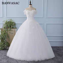 BANVASAC 2018 Real Photos Embroidery Sweetheart Beadings Ball Gown Flowers Wedding Dresses Lace Appliques Bridal Gowns