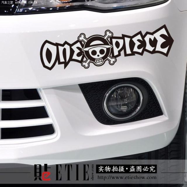 Factory direct car styling stickers piece monkey d luffy custom car window stickers reflective 3m