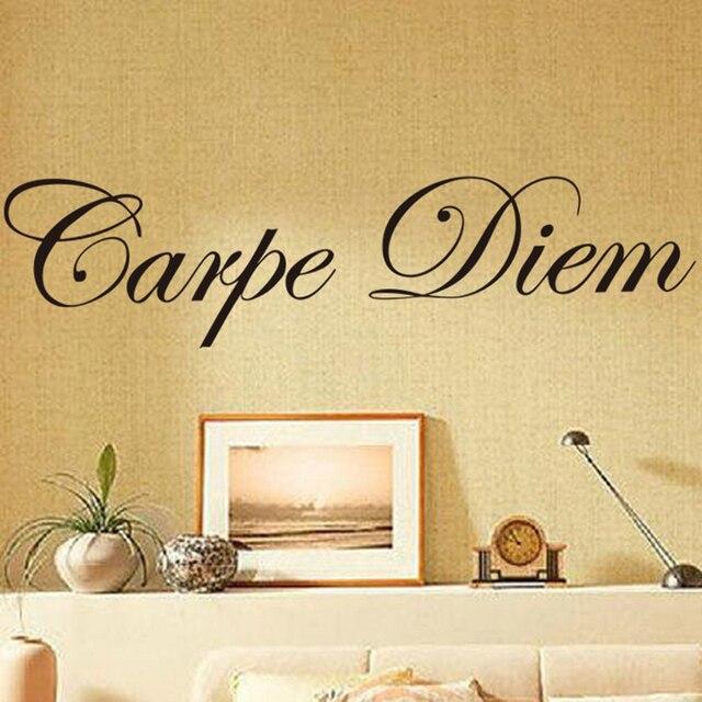 Wallpaper Carpe Diem Sticker Family Home Decor Living Room Removable ...