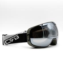 Silver Lens Gray Frame Brand New Ski Goggles UV400 Anti-Fog Eyewear Mask Glasses Skiing Men Women Snow Snowboard Goggles
