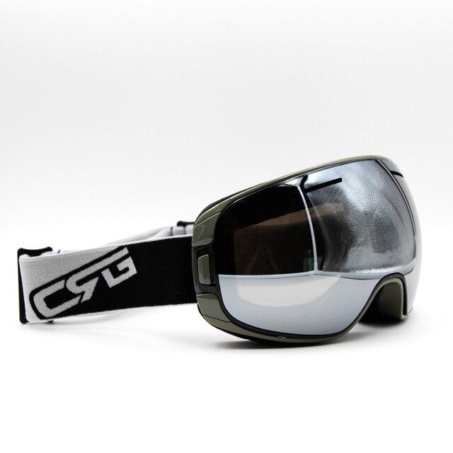 06ab280cc4c Silver Lens Gray Frame Brand New Ski Goggles UV400 Anti-Fog Eyewear Mask  Glasses Skiing Men Women Snow Snowboard Goggles