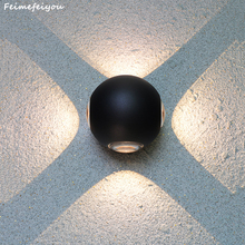 wall light fixture waterproof indoor outdoor Led Wall Lamp Aluminum Adjustable Surface Mounted Cube Garden Porch Light недорого