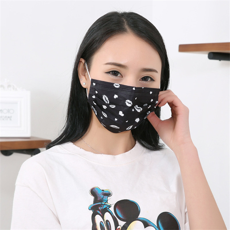 50pcs/Bags Manufacturers Wholesale Summer New Thin Section Lip Seal Disposable Dustproof Sunscreen Non-woven Fashion Masks