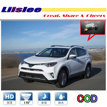 LiisLee Car Camera For TOYOTA RAV4 Hybrid 2016~2018 rearview Rear View Back Up Camera For PAL / NTSC | CCD + RCA Connector image