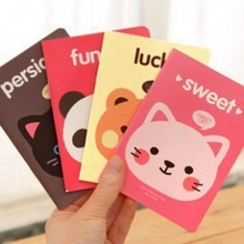Student notebook - mini exercise book, cute animal A6 notebook message book gift student stationery /5pcs ZCX-0159 challenges 1 student book