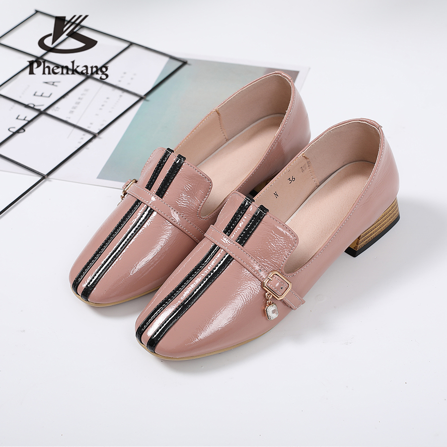 100% Genuine cow leather designer vintage lady casual pumps shoes handmade oxford shoes for women 2018 vintage casual handmade 100
