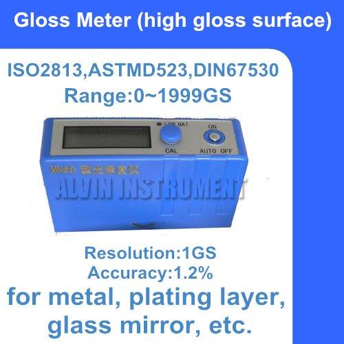 Medidor de Medidor de Brilho o Envio Gratuito de Superfície de Alto Brilho Gloss Meter Gama: Ângulo: 60 Grau Resolução: 1gs Precisão: 1.2% 01999gs