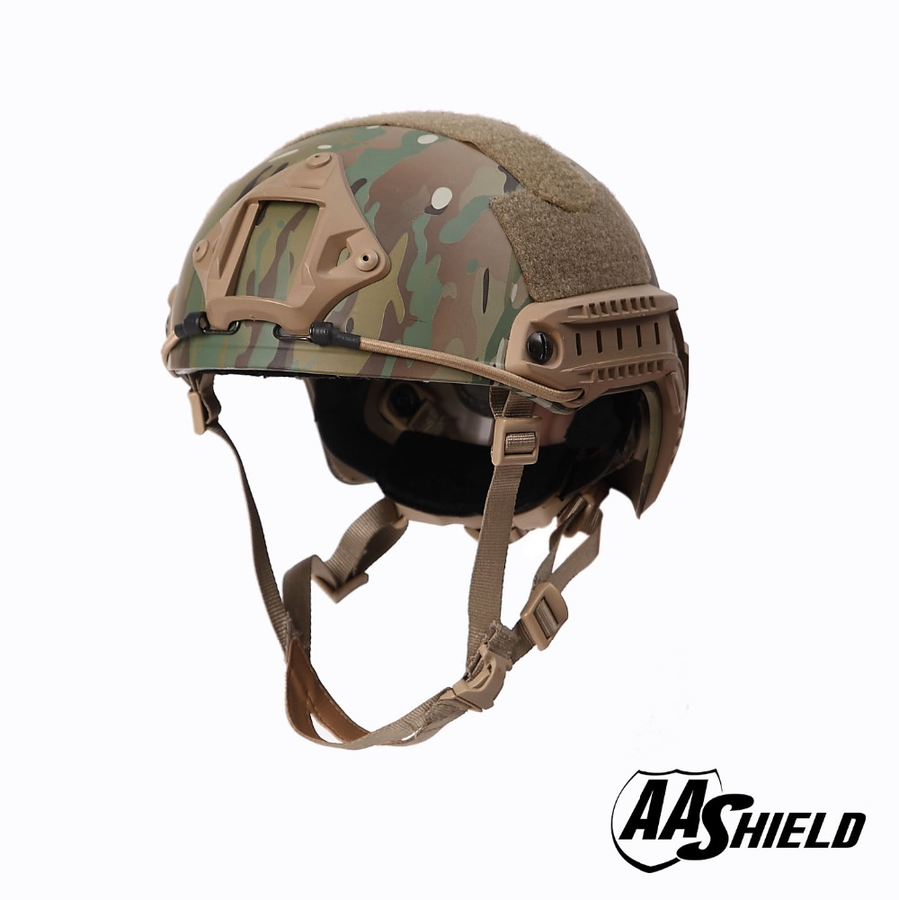 AA Shield Ballistic ACH High Cut Tactical Helmet Bulletproof Body Armor Aramid Core Helmet Safety Helmet NIJ IIIA 3A MC