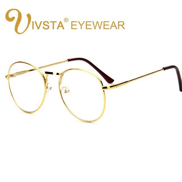 91a586b2d3 IVSTA Gold Metal Glasses Men Vintage Retro Eyeglasses Silver Round Glasses  Women Harry Potter Brand Designer