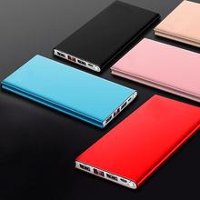 20000 mAh Ultra cienki Slim wyświetlacz LED Power Bank przenośna zewnętrzna bateria telefonu podwójne wyjście USB Powerbank dla telefonu komórkowego tanie tanio Awaryjne przenośne 15001-20000 mAh Bateria litowo-polimerowa Podwójny USB ZŁĄCZE micro USB 5 V 2 1A Dwukierunkowa Szybkie Ładowanie
