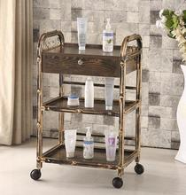 Three-tier trolley hairdressing tattoo cup rack beauty salon nail tool car.
